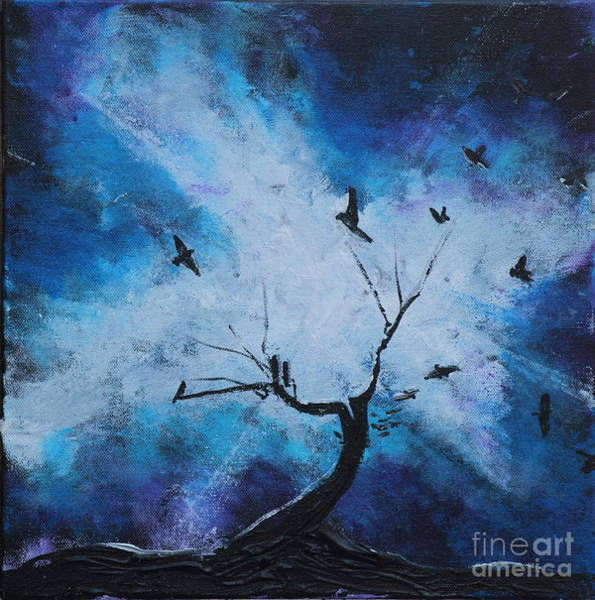 Painting - Raven Ring Around The Tree by Stefan Duncan