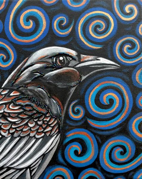 Wall Art - Painting - Raven by Sarah Crumpler