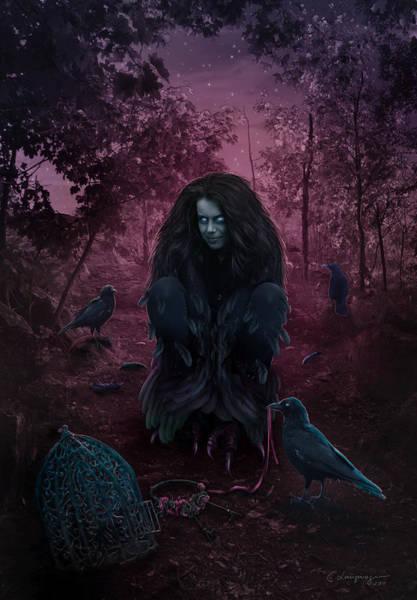 Raven Digital Art - Raven Spirit by Cassiopeia Art