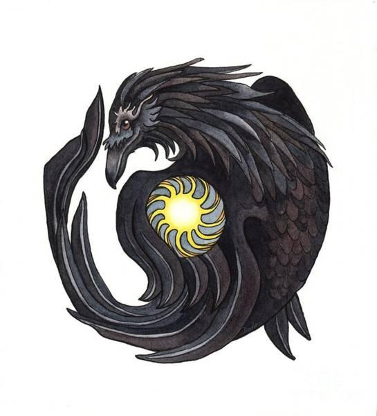 Mythology Painting - Raven Steals The Sun by Antony Galbraith