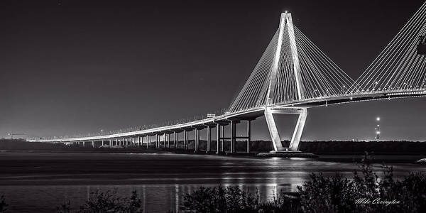 Photograph - Ravenel Bridge At Night by Mike Covington