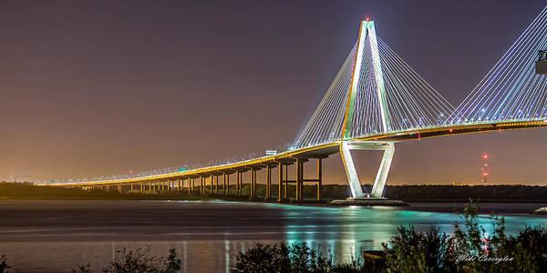 Photograph - Ravenel Bridge - Charleston by Mike Covington