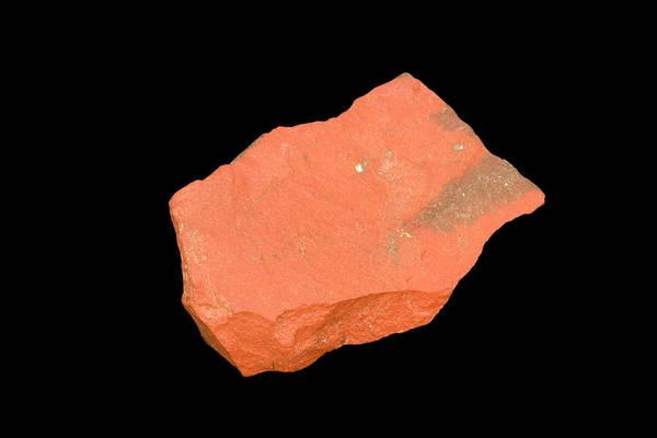 Uncut Photograph - Raw Jasper Specimen by Science Stock Photography/science Photo Library