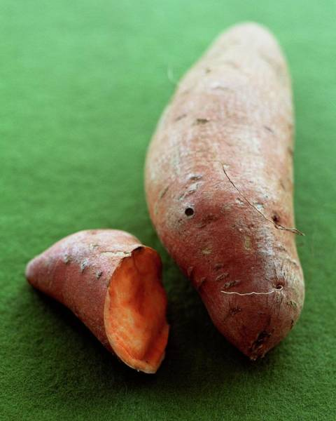 Sweet Photograph - Raw Sweet Potatoes by Romulo Yanes
