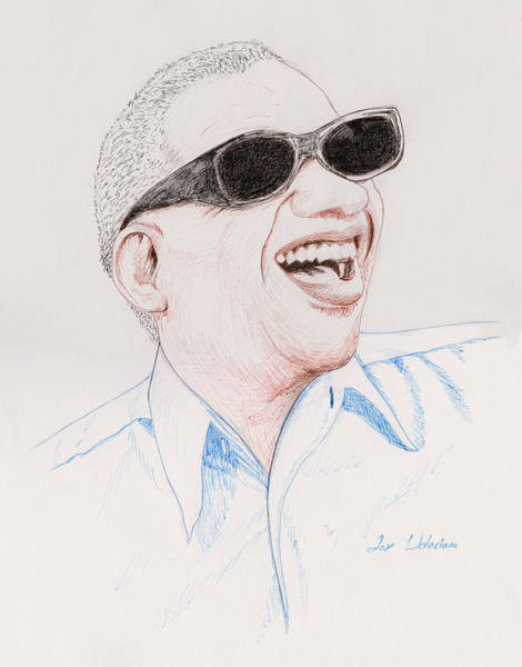 Drawing - Ray Chalrles by M Valeriano