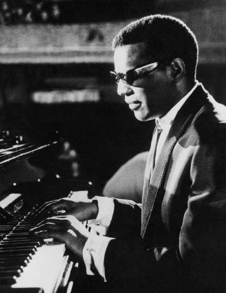 Keyboard Photograph - Ray Charles At The Piano by Underwood Archives