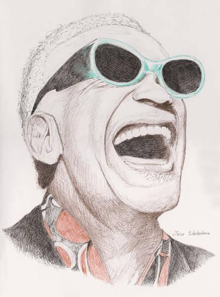 Drawing - Ray Charles by M Valeriano