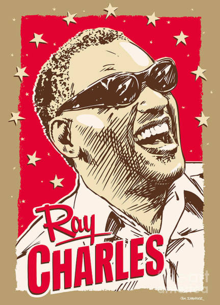 Wall Art - Digital Art - Ray Charles Pop Art by Jim Zahniser