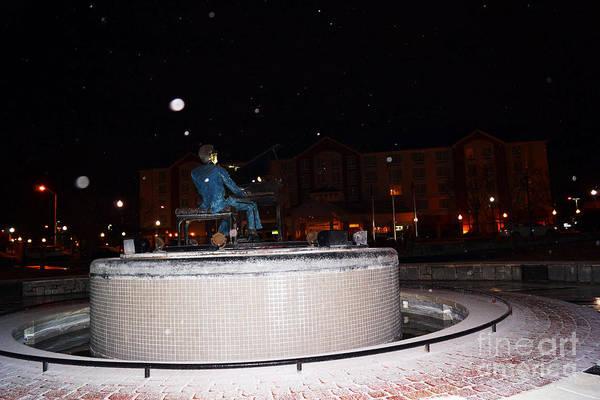 Photograph - Ray Charles Statue In A Odd Weather Event by Kim Pate