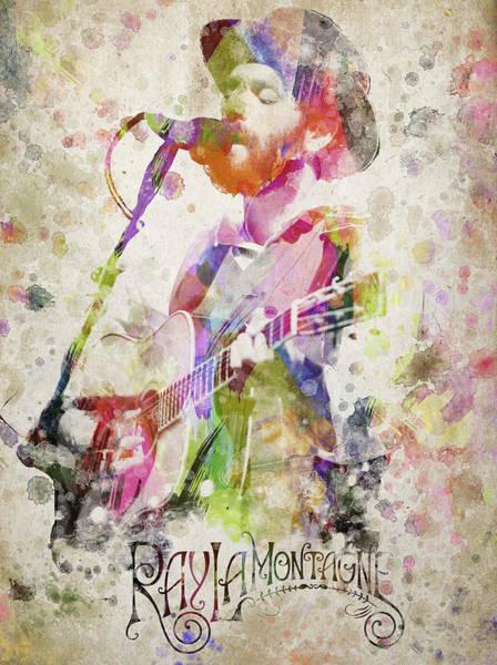 Wall Art - Digital Art - Ray Lamontagne Portrait by Aged Pixel