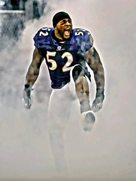 Wall Art - Painting - Ray Lewis by Florian Rodarte