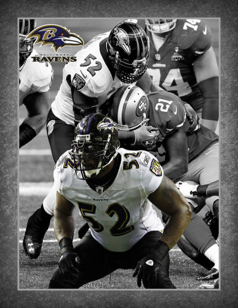 Baltimore Photograph - Ray Lewis Ravens by Joe Hamilton