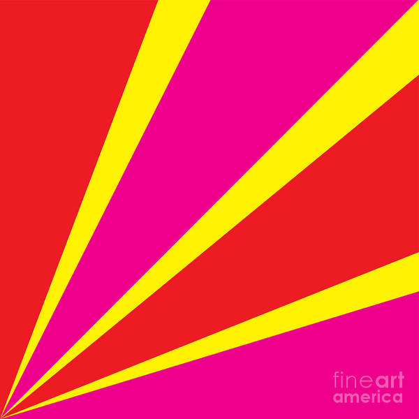 Rays Of Color Pink And Red Art Print by Vector Goodi