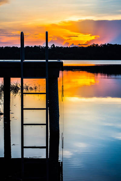 Photograph - Rays Of  Sun By The Dock by Parker Cunningham