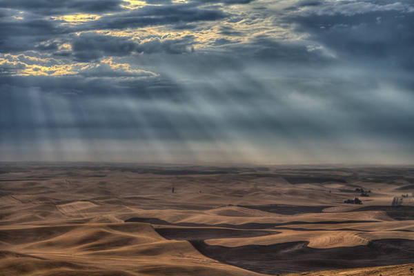 Photograph - Rays On The Palouse by Mark Kiver