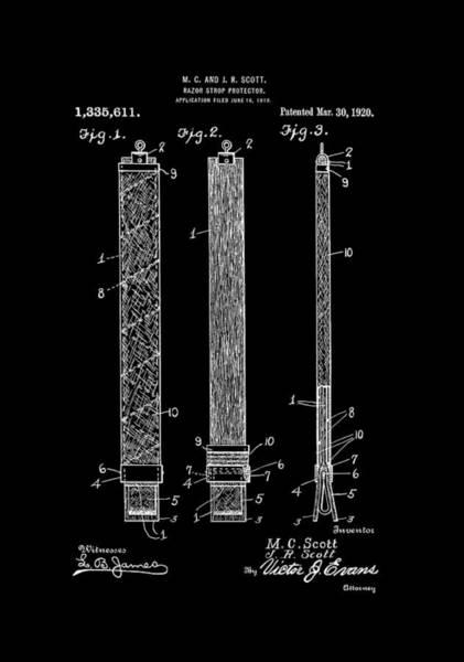 Digital Art - Razor Strop Protector 1920 Scotts by Lesa Fine
