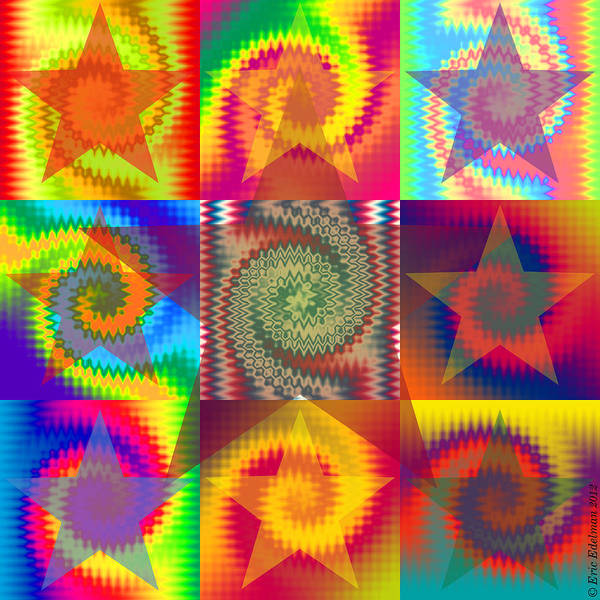 Digital Art - Razzle-dazzle Star Dance by Eric Edelman