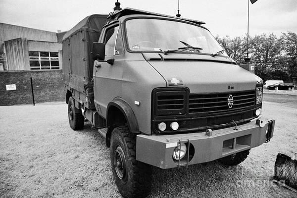 Heavy Duty Truck Wall Art - Photograph - Rb44 Heavy Duty Utility Truck British Army Military Vehicle On Display County Down Northern Ireland  by Joe Fox