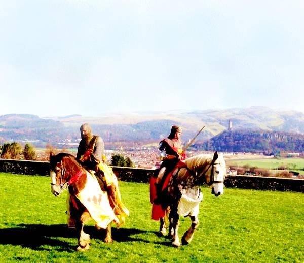Castles Of Scotland Digital Art - Re-enactment Of Battle Of Bannockburn Scotland by Elaine Weiss
