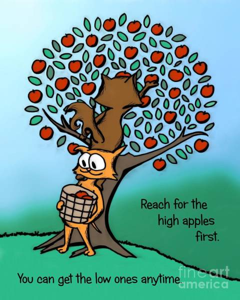 Digital Art - Reach For The High Apples by Pet Serrano