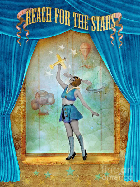 Aimee Stewart Wall Art - Digital Art - Reach For The Stars by MGL Meiklejohn Graphics Licensing