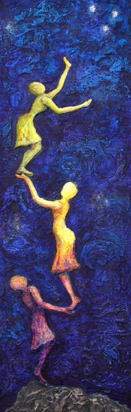 Together Painting - Reach For The Stars by Linda Carmel