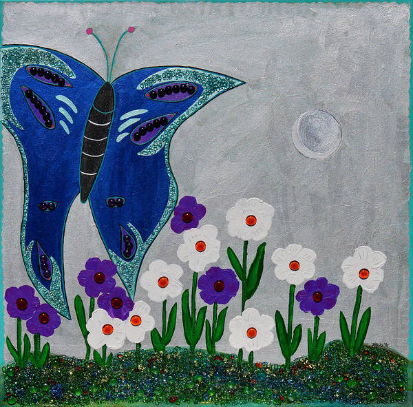 Wall Art - Mixed Media - Reaching For The Moon by Donna Blackhall