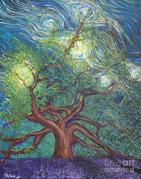 Angel Oak Painting - Reaching For The Stars by Stefan Duncan