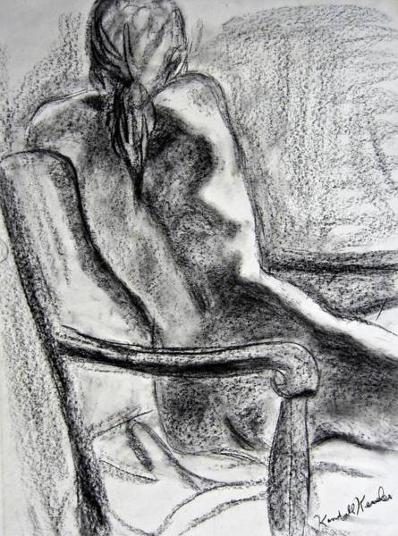 Nude Drawing - Reaching Out by Kendall Kessler