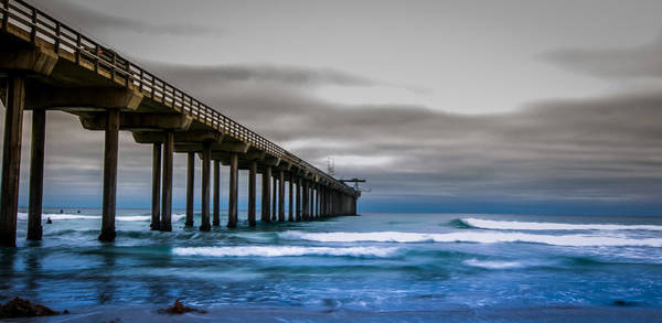 Scripps Pier Photograph - Reaching Out by Stephen Smith