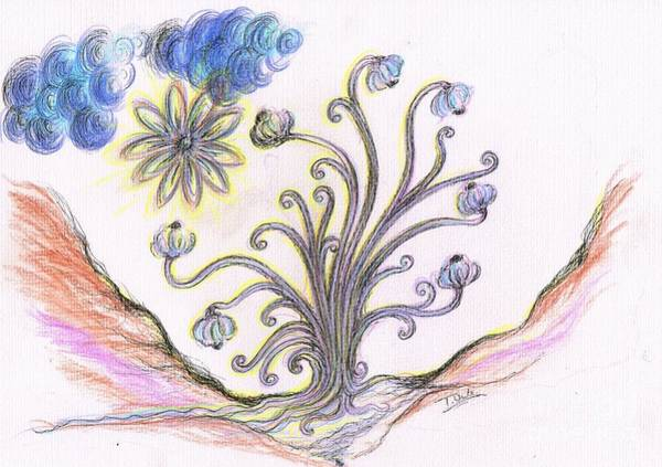 Earthy Drawing - Reaching Out by Teresa White