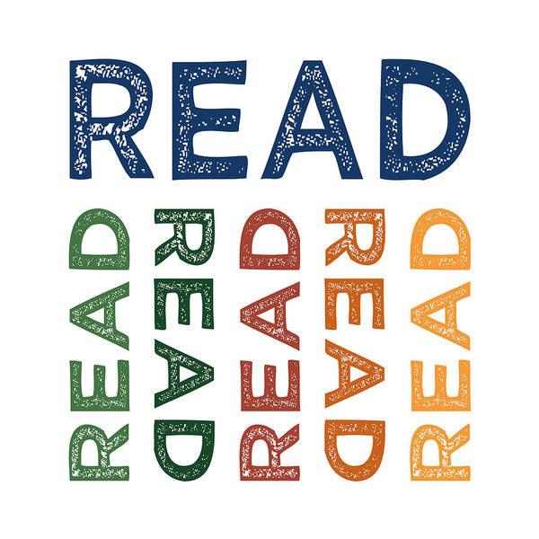 Reader Digital Art - Read Cute Colorful by Flo Karp