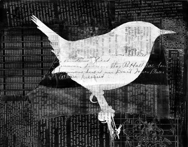 Reader Digital Art - Reader Bird by Georgia Fowler