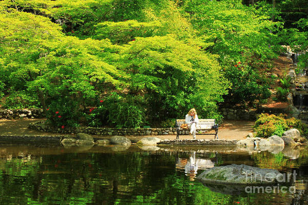 Photograph - Reading At The Pond by James Eddy