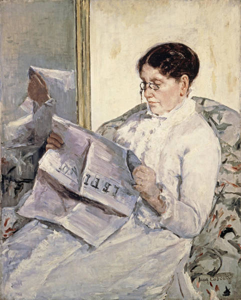 Painting - Reading Le Figaro by Celestial Images