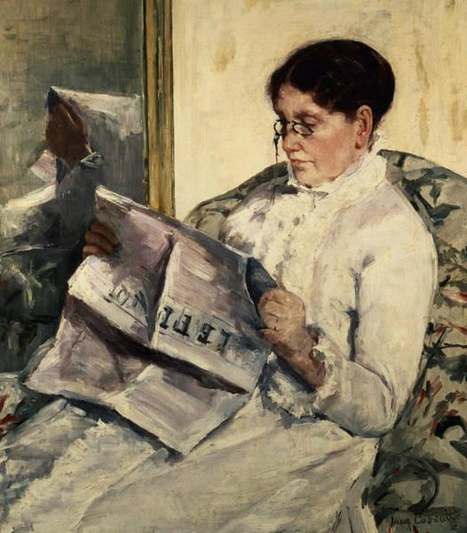 Cassatt Painting - Reading Le Figaro by Mary Stevenson Cassatt