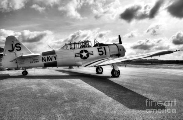 Photograph - Ready For Takeoff 2 Bw by Mel Steinhauer