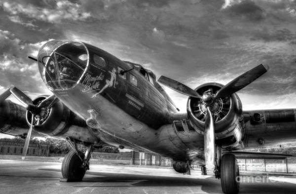 Photograph - Ready For Takeoff 3 Bw by Mel Steinhauer