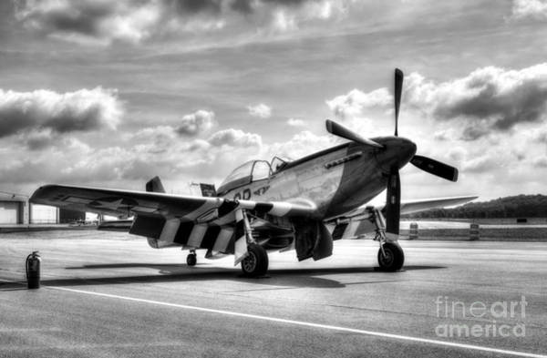 Photograph - Ready For Takeoff Bw by Mel Steinhauer