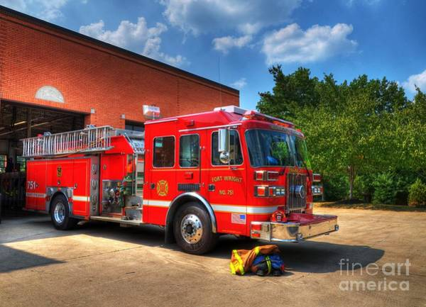 Fire Department Photograph - Ready To Roll by Mel Steinhauer