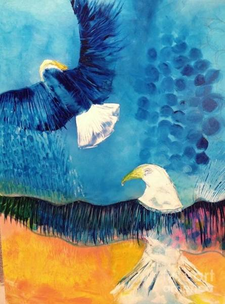 Wall Art - Painting - Ready To Soar by Jane Ubell-Meyer