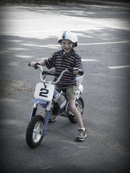 Dirtbike Photograph - Ready To Take On A Dare by Kelly Hazel