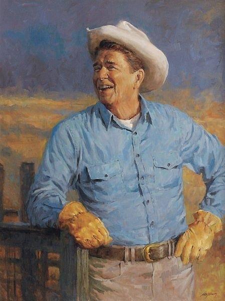 Digital Art - Reagan by Andy Thomas