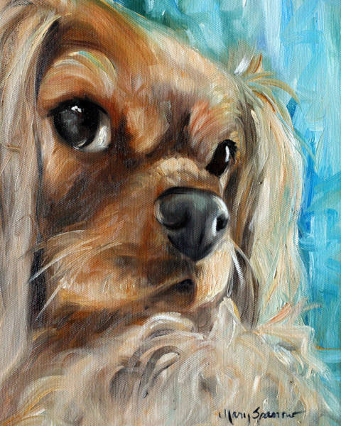 King Charles Spaniel Painting - Really? by Mary Sparrow