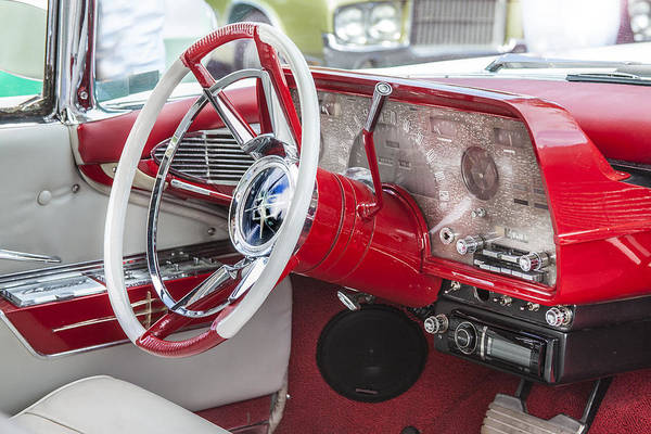 Mark Iv Wall Art - Photograph - Really Red 1959 Lincoln Interior by Rich Franco