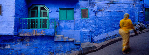 Jodhpur Wall Art - Photograph - Rear View Of A Woman Walking by Panoramic Images