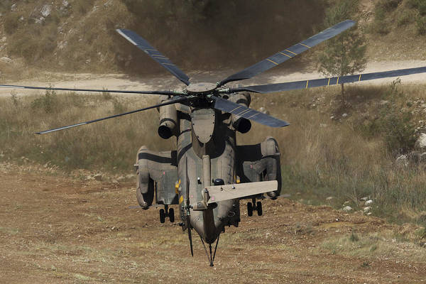 Yasur Photograph - Rear View Of An Israeli Air Force Ch-53 by Ofer Zidon