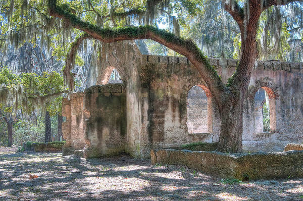Rear View Of The Chapel Of Ease Art Print