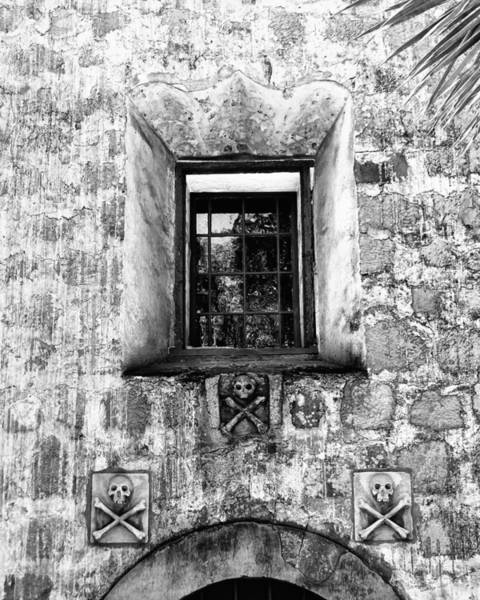 Mission Santa Barbara Photograph - Rear Window Bw Santa Barbara by William Dey