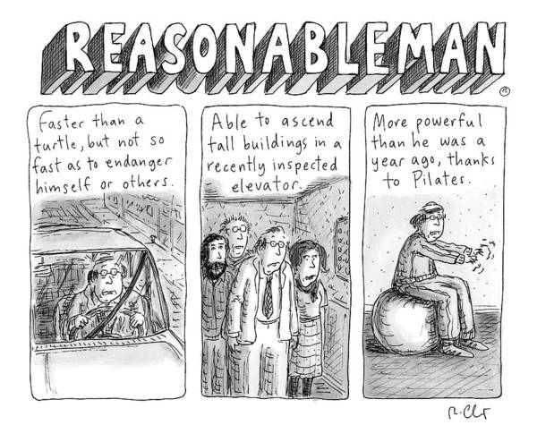 Superhero Drawing - Reasonableman -- Superhero-like Qualities That by Roz Chast